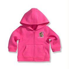 Carhartt Little Girls Brushed Fleece Zip Front Jacket, Pinkalicious, 4T