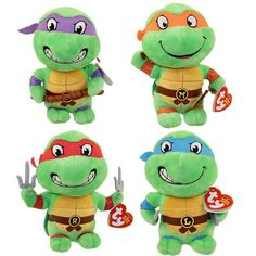 7e038a60a9d Beanie Babies-Original 19205  Ty Beanie Babies - Teenage Mutant Ninja  Turtles -Set