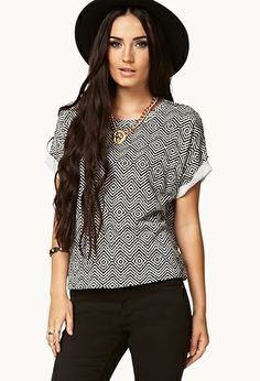 Boxy Ikat Top | FOREVER21 - 2040496487