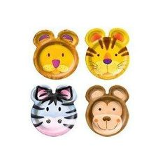 Jungle Animals Party Animal Friends Plates