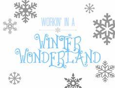 Spool and Spoon: Winter Wonderland Printable