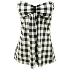 Sweetheart Buffalo Plaid Tube (£11) ❤ liked on Polyvore featuring tops, shirts, tube tops, blusas, tube tops & halters, sweetheart neckline top, cotton halter top, black tube top, black halter top and cotton shirts