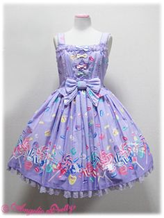 Angelic Pretty / Set / Candy Treat Colorful Ribbons JSK