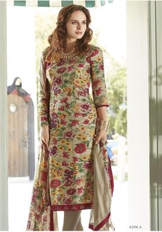 Beige and maroon coloured suit. In Stock,Price : Rs 2,199.00