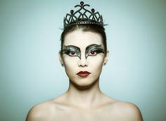 Blackswan Halloween makeup.... And beautiful girlfriend