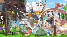 studio ghibli characters collage - Google Search