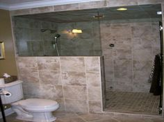 Bathroom Remodel Walk-In Showers | Bathroom remodel idea. Wow! That's a walk-in shower. | For the Home