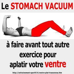 Le stomach vacuum est un exercice statique de musculation exclusivement ciblé sur le muscle transverse. Il aplatit rapidement et durablement le ventre