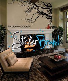 Innovative Stencils Inch X Inch Tree Top Branches Wall - Vinyl stickers treeamazoncom stickebrand vinyl wall decal sticker tree top branches