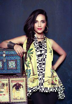 High Fashion Pakistan....Aamina Sheikh wearing Saniya Maskatiya
