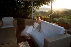 Wedding in Tuscany  Tuscan loggia and sunset dream.
