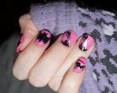 Nails did: - Nail Art Design Batman Nail Designs, Batman Nail Art, Nail Designs 2014, Funky Nail Designs, Superhero Nails, Funky Nails, Love Nails, How To Do Nails, Pretty Nails