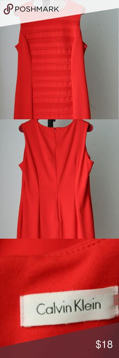Calvin Klein Wear To Work Sheath Dress NWOT Brand NEW Calvin Klein sheath dress featuring a crew neckline with a zipper closure at back, sheath silhouette, lined, hits above knee and is made of polyester/spandex. Dry clean only Calvin Klein Dresses