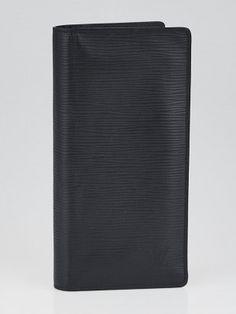 Louis Vuitton Black Epi Leather Brazza Wallet - Yoogi's Closet