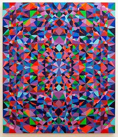 Famous Geometric Paintings | like the contrast between the painterly lines and the sharp, geometric ...