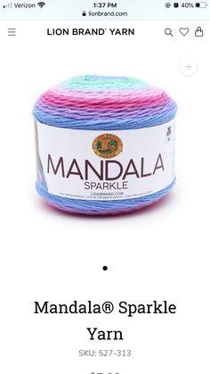 Mandala, Sparkle, Lion Brand Yarn, Draco, Dragonair, Mandalas