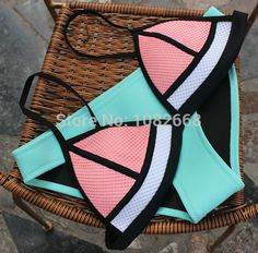 2015 Newest  Women Triangl Neoprene Bikini Set  Push Up Swimwear Padded Triangle Swimsuit  Bathing Suit-in Bikinis Set from Women's Clothing & Accessories on Aliexpress.com | Alibaba Group