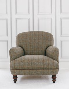Manor Harris Tweed Chair in Bracken buy online now from Rose and Grey, eclectic home accessories and stylish furniture for vintage and modern living. Furniture Upholstery, Find Furniture, Upholstered Chairs, Antique Furniture, Upholstery Repair, Upholstery Tacks, Upholstery Cleaning, My Living Room, Living Room Chairs