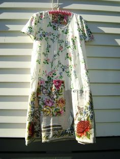 summer dress from vintage linens