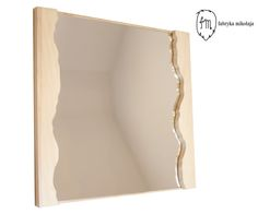 River mirror,  Name: Vistula Material: pine wood Dimentions: 78x75x4cm
