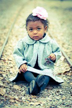 sweet shy little girl
