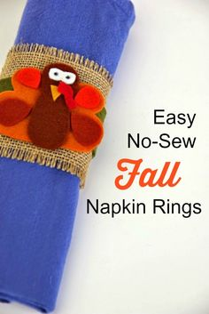 Easy No-Sew Fall Napkin Rings via @notimemom  #TBCcrafters