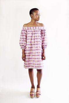Off the Shoulder Dress - Pink