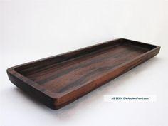 Japanese Wooden Sencha Tea Tray; Sencha - Bon/ Ebony Wood/ Karaki