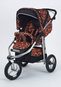 Baby Bling Fire Tip Red ATS Safety Stroller with all the Strollers Accessories | My Urban Child -