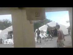 Behavior refugee camp Dresden Germany 1August2015 - YouTube