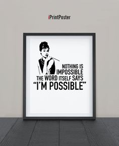 NOTHING IS IMPOSSIBLE by Anna Margaritou on Etsy