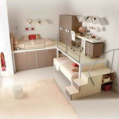 Cool bunk beds for teens awesome cream teenager girls advice bedrooms first dublin ohio . cool bunk beds for teens Bunk Beds With Stairs, Cool Bunk Beds, Kids Bunk Beds, Adult Bunk Beds, Apartment Bedroom Decor, Bedroom Loft, Girls Bedroom, Bedroom Ideas, Bed Ideas