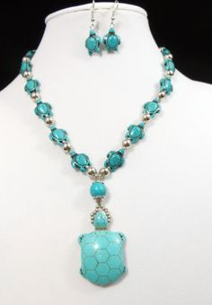 COWGIRL Bling Necklace set Turquoise blue Stone Turtle Indian GYPSY WESTERN our prices are WAY BELOW RETAIL! all JEWELRY SHIPS FREE! www.baharanchwesternwear.com baha ranch western wear ebay seller id soloedition