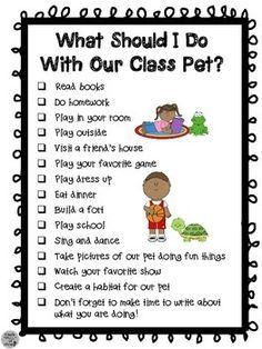 Class pet on Pinterest | Class Pet, Journals and Construction ... Classroom Pets, Kindergarten Classroom, Classroom Themes, Classroom Activities, Daycare Curriculum, Autism Activities, Sorting Activities, Vocabulary Activities, Future Classroom