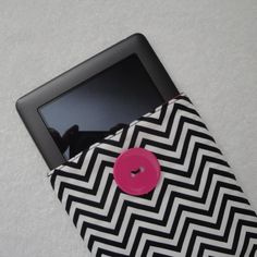 Nook cover, Nook sleeve, padded Nook case in Black & White Chevron. $16.00, via Etsy.