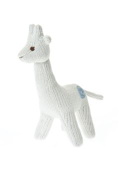 This adorable Beba Bean little knit giraffe rattle toy is the perfect companion to keep your baby company. This soft and cuddly toy comes with its own personal story on the tag around its neck. Whether you're looking for baby decor or your baby's first toy, this guy will be perfect in your home.