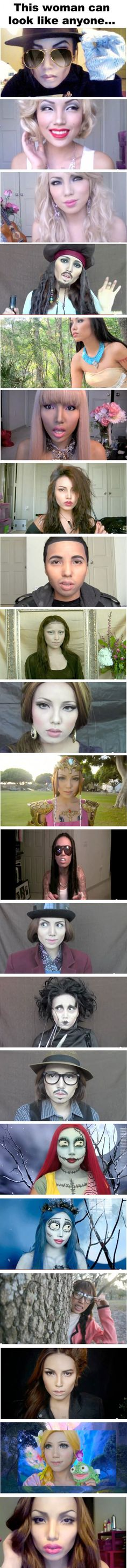 The incredible power of makeup.