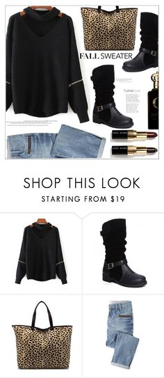 """""""Fall Sweater"""" by mycherryblossom ❤ liked on Polyvore featuring Wrap, Bobbi Brown Cosmetics, Clive Christian, black, polyvoreeditorial, polyvorestyle, fallsweaters and twinkledeals"""