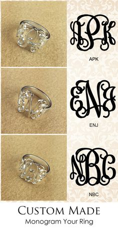 Personalized your initials with our amazing silver Monogram Ring made from hand-drawn font, It is available in 18-carat gold/rose gold plated.  It is great gifts idea for her .Suit for any occasion,Order now with free shipping and extra 12%. Discover more from getnamenecklace