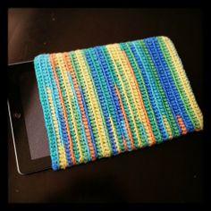 Hand-Crocheted iPad Slip Cover, $15.00