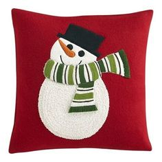 Mesmerizing Square Red Microfiber Red Throw Pillows Offer Sumptuous Look Perfect For Bedroom White Snowman Picture Material Curly And Fluffy Huggable And Wonderfulness Pure Softness Microfiber Cute Red Throw Pillows Pillows & Cushions Christmas Sewing, Christmas Diy, Christmas Stockings, Christmas Stuff, Christmas 2019, Christmas Cushions, Christmas Pillow, Christmas Projects, Christmas Crafts