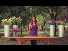 E 1 : Como hacer un ARREGLO DE FLORES FACIL usando Iris , LA VIOLETERA floreria - YouTube