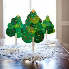 *arbre de Noël à base de ronds