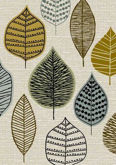 Woodland Leaves limited edition giclee print by EloiseRenouf