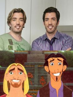 the Property Brothers are dopplegängers for Tulio and Miguel in The Road to El Dorado. How the Property Brothers are dopplegängers for Tulio and Miguel in The Road to El Dorado. Funny Cute, The Funny, Hilarious, Super Funny, Disney And Dreamworks, Disney Pixar, Walt Disney, Funny Pins, Funny Memes