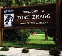 We would drive through Fort Bragg on the way to my aunt's and uncle's house in Fayetteville. He was in the Army, serving at Fort Bragg.  Driving through always made me proud of our country.