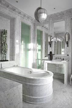 Marble bathroom design. Jean-Louis Deniot | Interiors | Interior design #homedecor #designideas