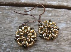 Superduo Earrings Made by Arches Designs.
