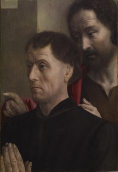 Portrait of a Man at Prayer with Saint John the Baptist-1475