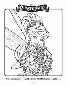 tinkerbell and the pirate fairy colouring 2